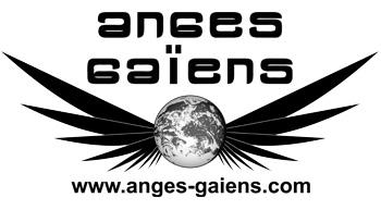 Logo Anges Gaïens stickers noir et blanc