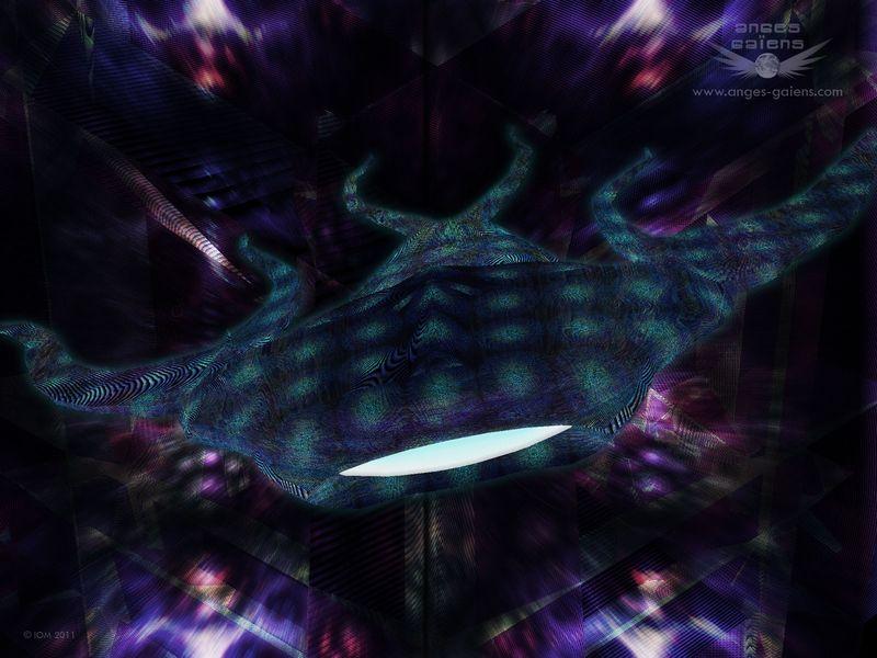 Fond d'écran : Vision chamanique d'une créature angélique polymorphe du monde des esprits