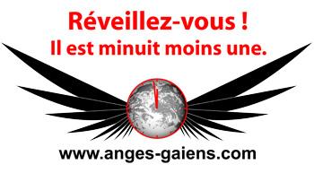 Autocollant Anges Gaïens : réveillez-vous il est minuit moins une
